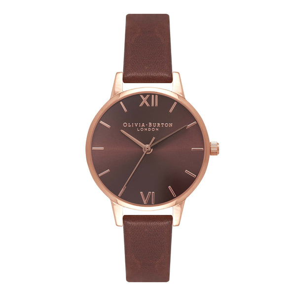 OLIVIA BURTON-Brown Dial Brown & Rose Gold-Watch-OB16MD70-THE UNIT STORE