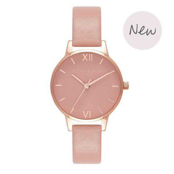 OLIVIA BURTON-Rose Petal Dial Midi Dusty Pink & Rose Gold-Watch-OB16MD77-THE UNIT STORE
