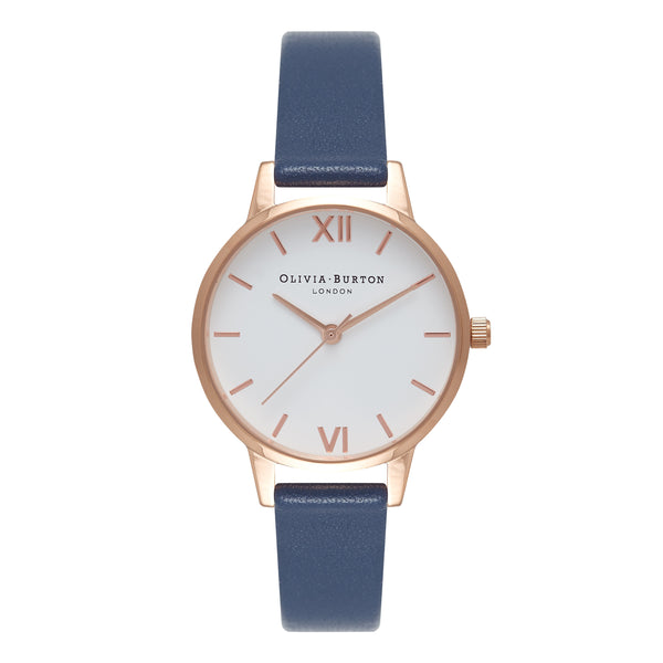 White Dial Midi Dial Navy & Rose Gold__OLIVIA BURTON_Watch_THE UNIT STORE