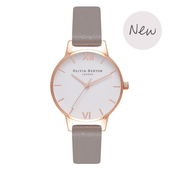 OLIVIA BURTON-White Dial Midi Dial Iced Coffee & Rose Gold-Watch-OB16MDW20-THE UNIT STORE