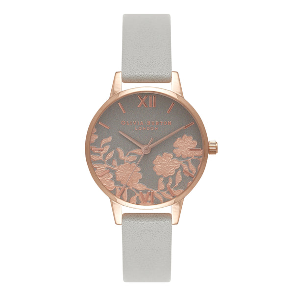 OLIVIA BURTON-Lace Detail Grey & Rose Gold-Watch-OB16MV58-THE UNIT STORE