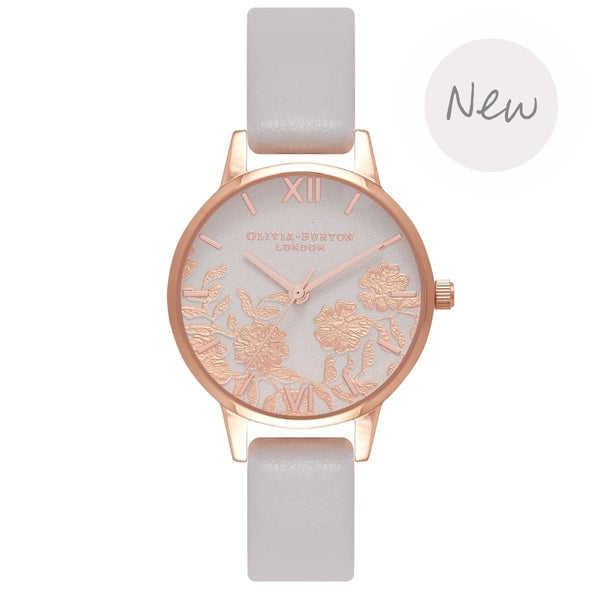 OLIVIA BURTON-Lace Detail Blush & Rose Gold-Watch-OB16MV69-THE UNIT STORE