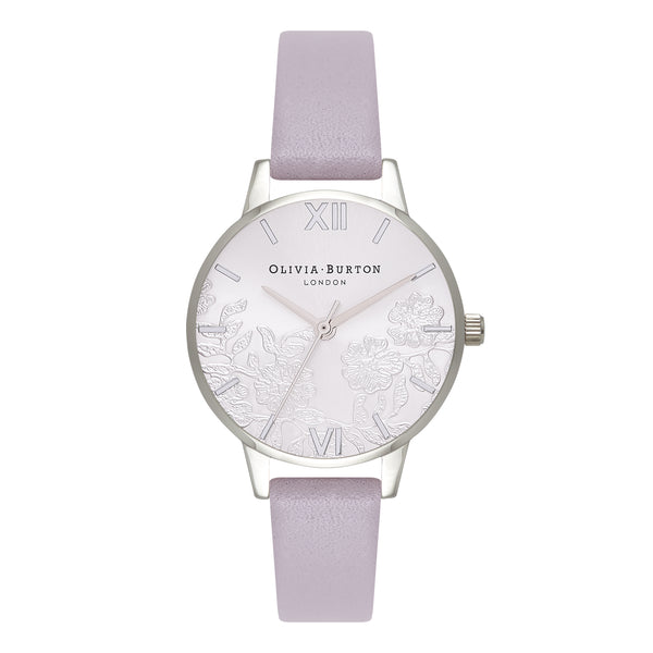 OLIVIA BURTON-Lace Detail Grey Lilac & Silver-Watch-OB16MV76-THE UNIT STORE
