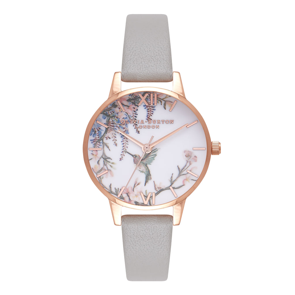 OLIVIA BURTON-Painterly Prints Grey & Rose Gold-Watch-OB16PP22-THE UNIT STORE
