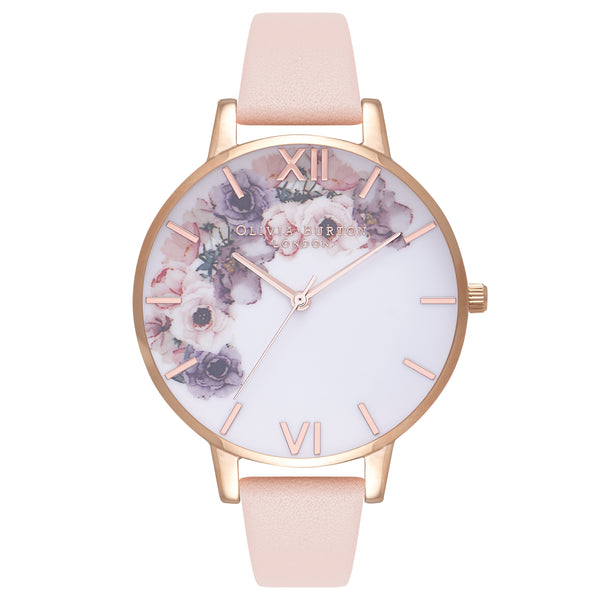 Watercolour Florals Nude Peach & Rose Gold__OLIVIA BURTON_Watch_THE UNIT STORE