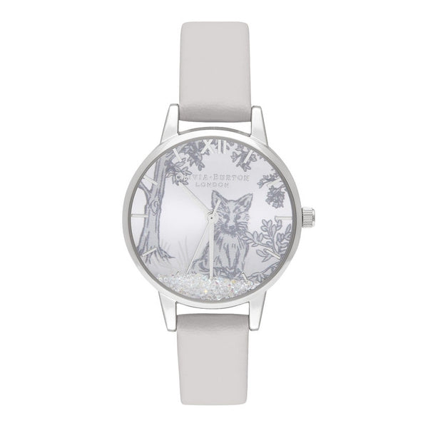 OLIVIA BURTON-Snow Globe Blush & Silver-Watch-OB16SG05-THE UNIT STORE