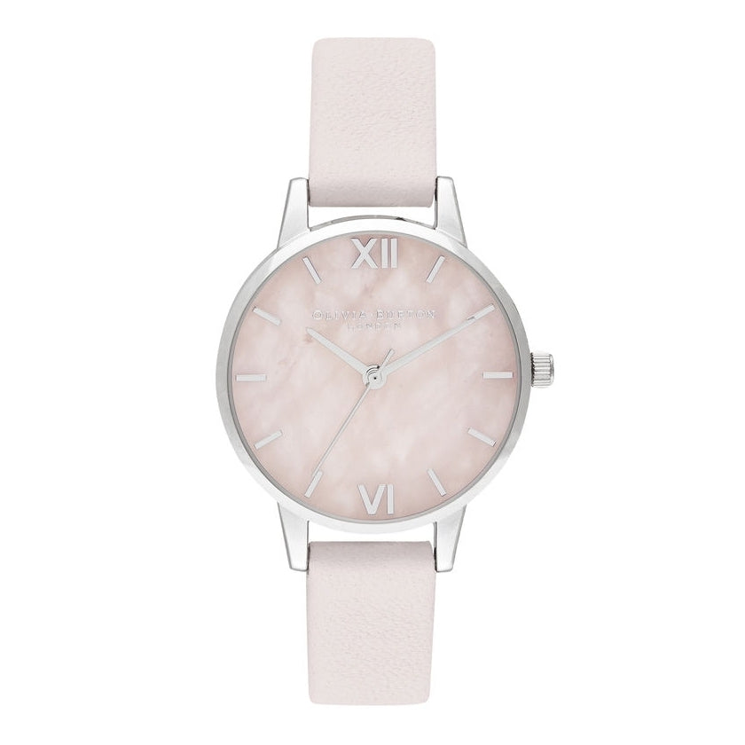 OLIVIA BURTON-Midi Rose Quartz Blossom & Silver-Watch-OB16SP19-THE UNIT STORE