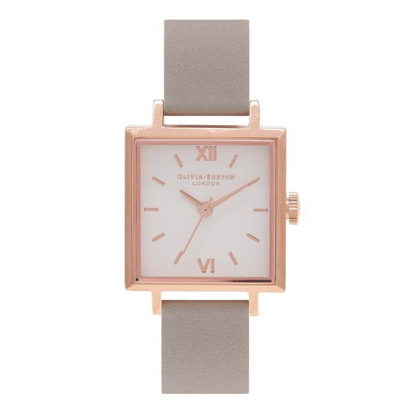 OLIVIA BURTON-Square Dials Grey & Rose Gold-Watch-OB16SS03-THE UNIT STORE