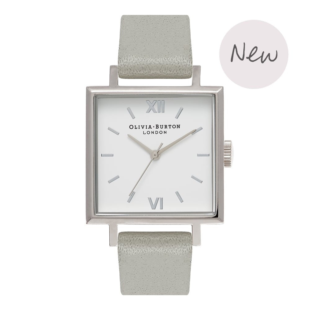 OLIVIA BURTON-Big Dial Square Dials Grey & Silver-Watch-OB16SS17-THE UNIT STORE