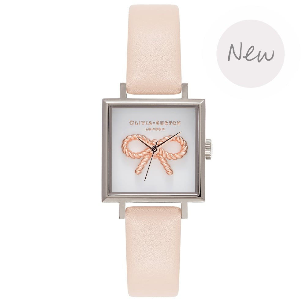 OLIVIA BURTON-Vintage Bow Nude Peach & Silver-Watch-OB16VB02-THE UNIT STORE