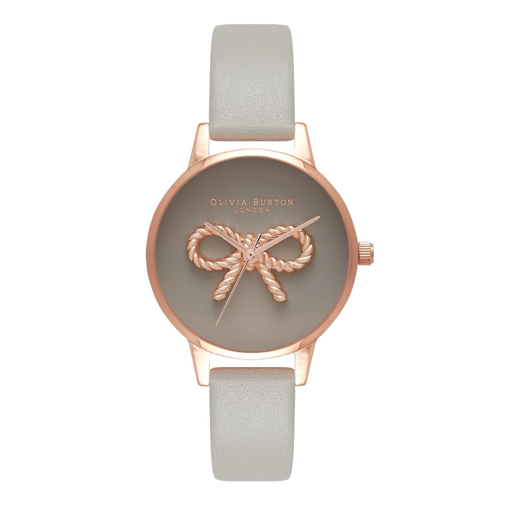 OLIVIA BURTON-Vintage Bow Grey & Rose Gold-Watch-OB16VB04-THE UNIT STORE