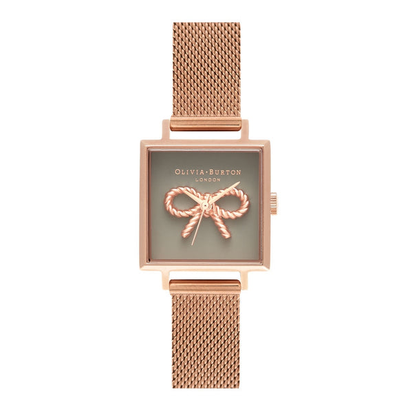 OLIVIA BURTON-Vintage Bow Grey & Rose Gold Mesh-Watch-OB16VB10-THE UNIT STORE