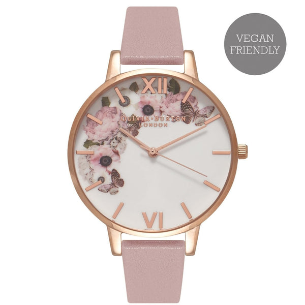 OLIVIA BURTON-Vegan Friendly Enchanted Garden Rose Sand & RG-Watch-OB16VE04-THE UNIT STORE
