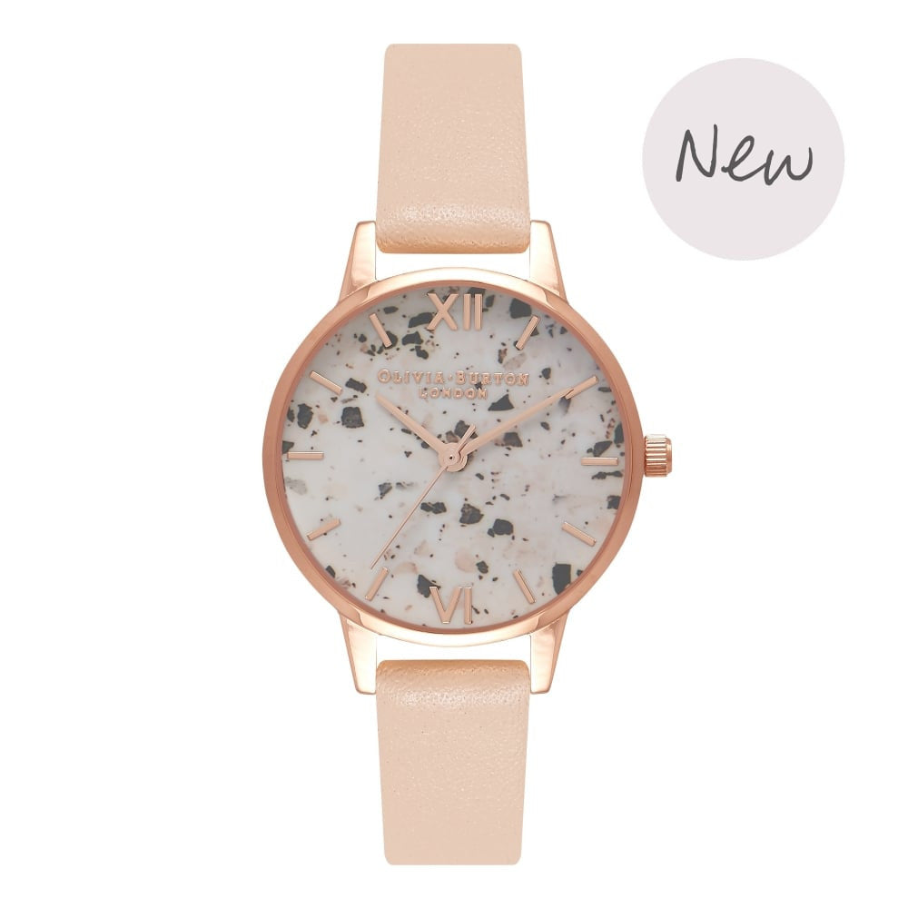OLIVIA BURTON-Vintage Marble Nude Peach & Rose Gold-Watch-OB16VM01-THE UNIT STORE