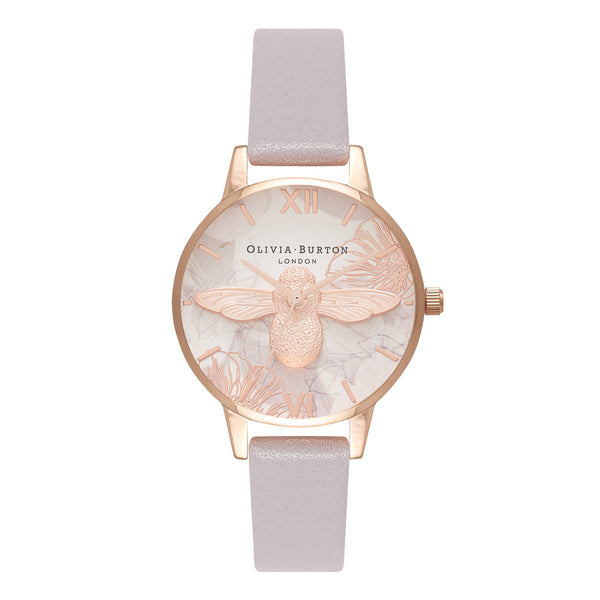 OLIVIA BURTON-Abstract Florals Grey Lilac & Rose Gold-Watch-OB16VM17-THE UNIT STORE