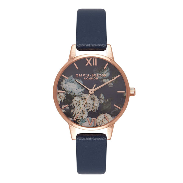 OLIVIA BURTON-In The Navy Winter Garden Navy & Rose Gold-Watch-OB16WG13-THE UNIT STORE