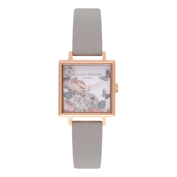 OLIVIA BURTON-Signature Florals Grey & Rose Gold-Watch-OB16WG41-THE UNIT STORE
