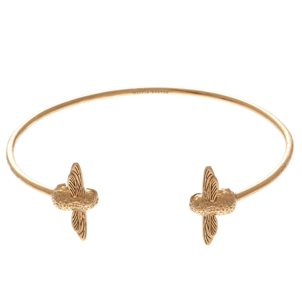 OLIVIA BURTON-Animal Motif Moulded Bee Double Bangle Gold-Jewellery-OBJ16AMB01-THE UNIT STORE