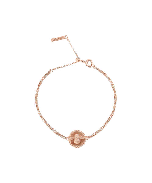 3D Bee & Coin Chain Bracelet Rose Gold__OLIVIA BURTON_Jewellery_THE UNIT STORE