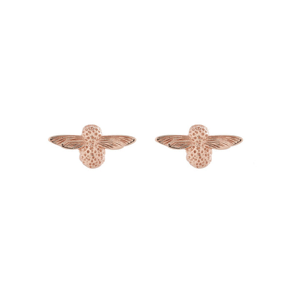 OLIVIA BURTON-3D Bee Studs Rose Gold-Jewellery-OBJ16AME23-THE UNIT STORE