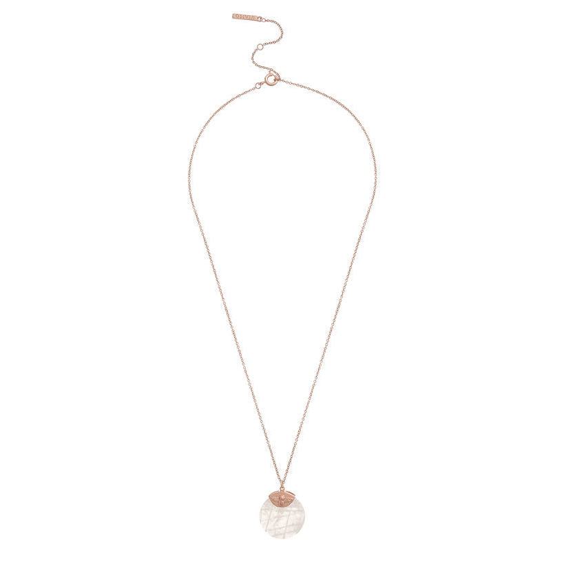 OLIVIA BURTON-Bejewelled Bee Necklace Rose Gold & Rose-Jewellery-OBJ16AMN23-THE UNIT STORE