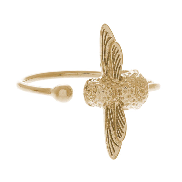 OLIVIA BURTON-Animal Motif Bee Ring Gold-Jewellery-OBJ16AMR01-THE UNIT STORE