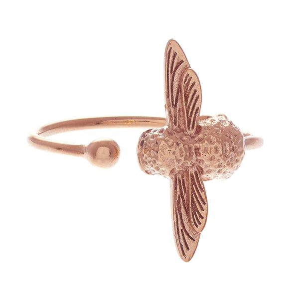 OLIVIA BURTON-Animal Motif Bee Ring Rose Gold-Jewellery-OBJ16AMR02-THE UNIT STORE