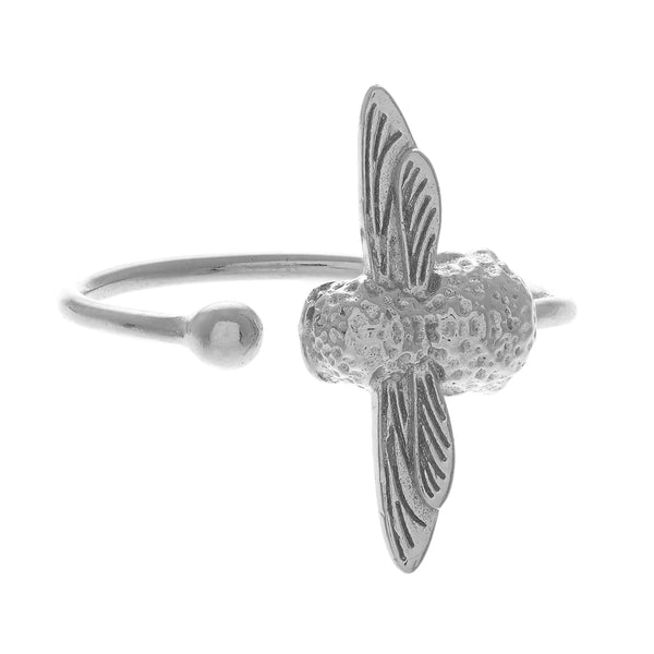 OLIVIA BURTON-Animal Motif Bee Ring Silver-Jewellery-OBJ16AMR03-THE UNIT STORE