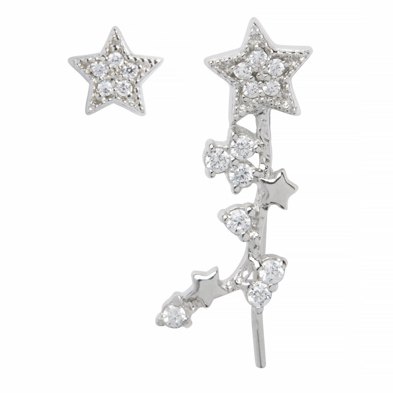 OLIVIA BURTON-Celestial Crawler And Stud Earring Silver-Jewellery-OBJ16CLE03-THE UNIT STORE