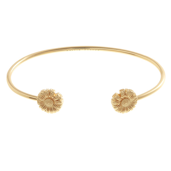 OLIVIA BURTON-Flower Show Daisy Open Ended Bangle Gold-Jewellery-OBJ16DAB03-THE UNIT STORE