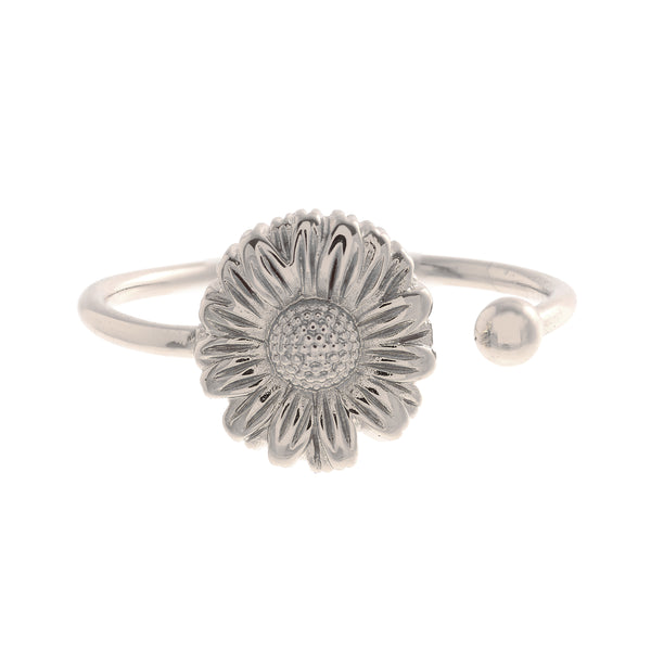 OLIVIA BURTON-Flower Show Daisy Open Ended Ring Silver-Jewellery-OBJ16DAR05-THE UNIT STORE