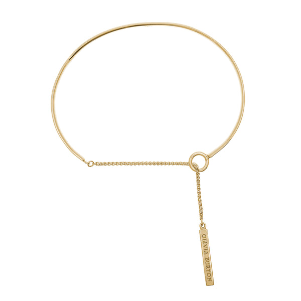 OLIVIA BURTON-Engravable Drop Bar Bracelet Gold-Jewellery-OBJ16ENB07-THE UNIT STORE
