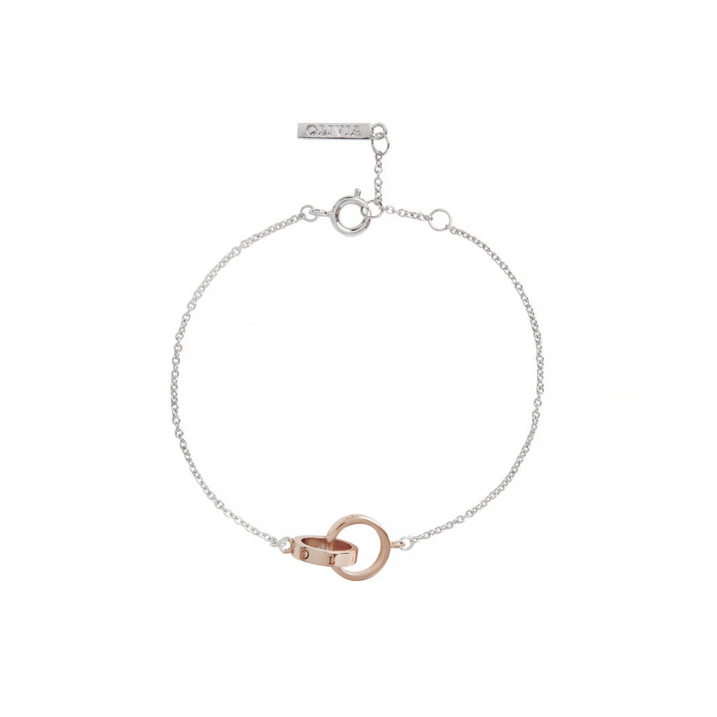OLIVIA BURTON-Classic Chain Bracelet Silver & Rose Gold-Jewellery-OBJ16ENB15B-THE UNIT STORE