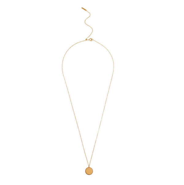 OLIVIA BURTON-Engraveables Disc Necklace Gold-Jewellery-OBJ16ENN10-THE UNIT STORE