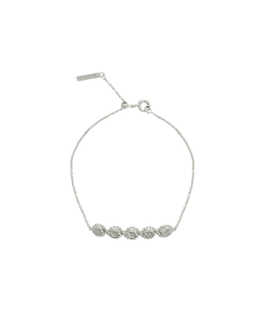OLIVIA BURTON-Flower Show Rope Chain Bracelet Silver-Jewellery-OBJ16FSB12-THE UNIT STORE