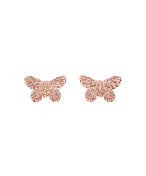 OLIVIA BURTON-3D Butterfly Earring Rose Gold-Jewellery-OBJ16MBE02-THE UNIT STORE