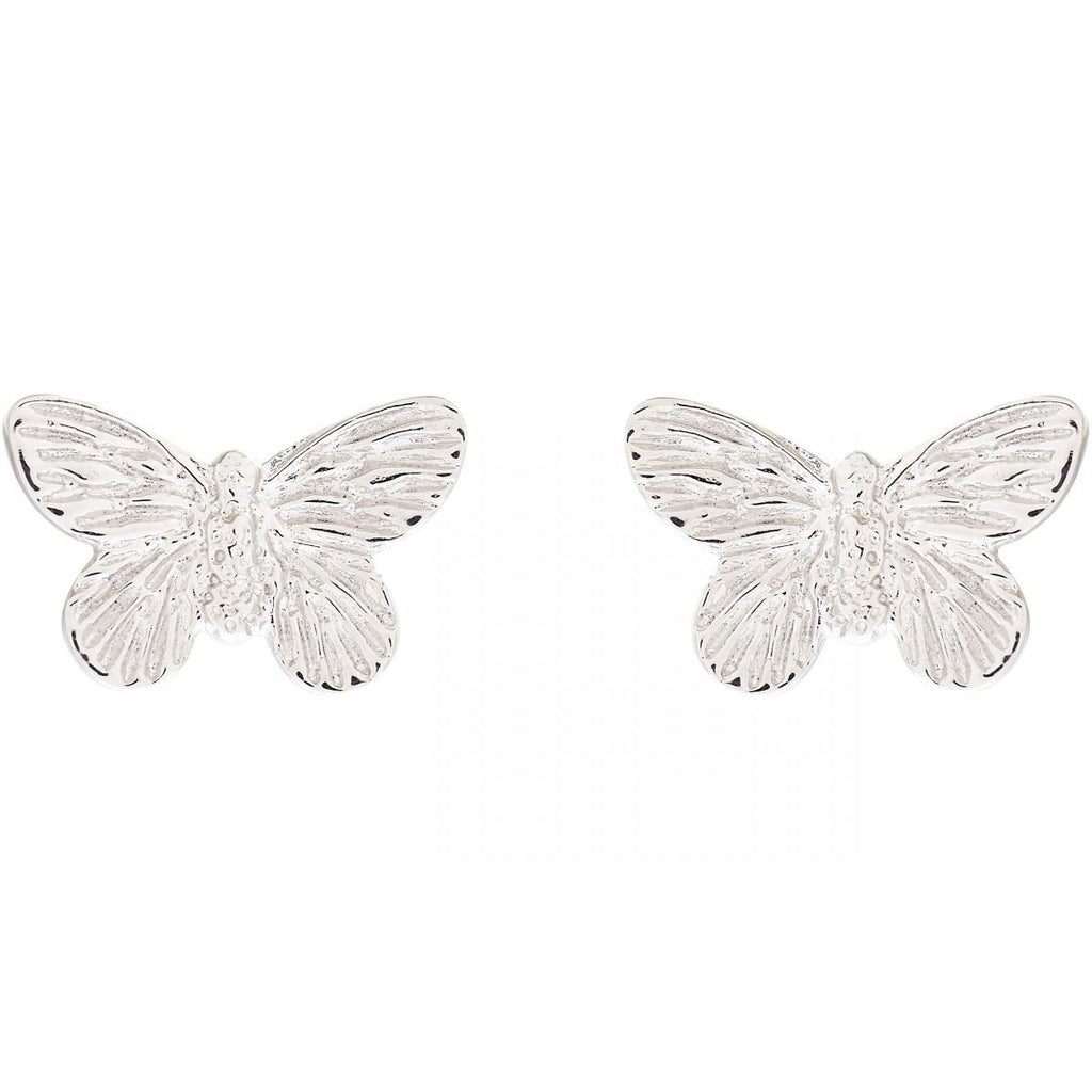 OLIVIA BURTON-3D Butterfly Stud Earring Silver-Jewellery-OBJ16MBE03-THE UNIT STORE
