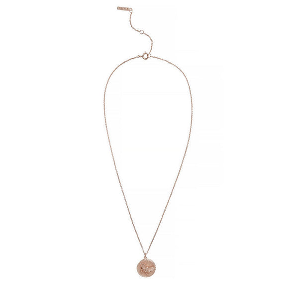 OLIVIA BURTON-3D Butterfly Disc Necklace Rose Gold-Jewellery-OBJ16MBN02-THE UNIT STORE