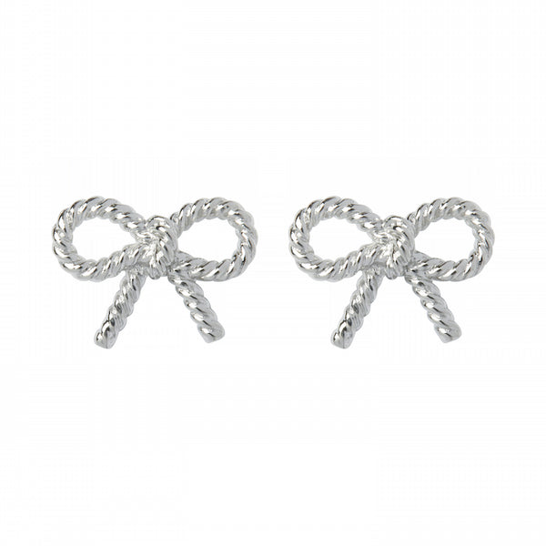 OLIVIA BURTON-Vintage Bow Earring Silver-Jewellery-OBJ16VBE24-THE UNIT STORE