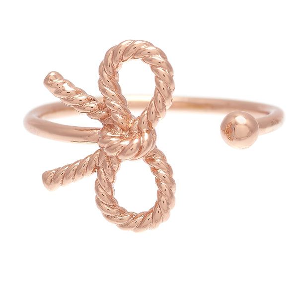 OLIVIA BURTON-Vintage Bow Ring Rose Gold-Jewellery-OBJ16VBR02-THE UNIT STORE