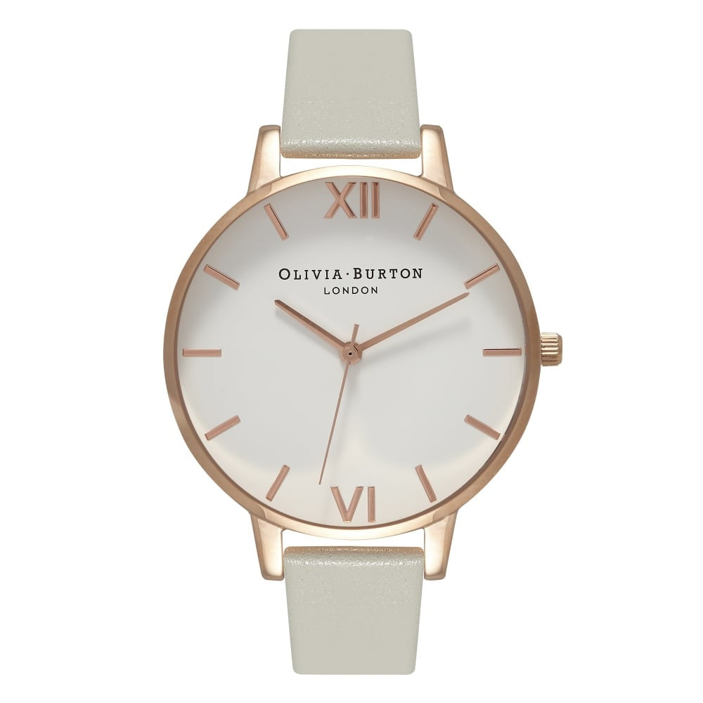 OLIVIA BURTON-White Dial Big Dial Grey & Rose Gold-Watch-OB15BDW02-THE UNIT STORE