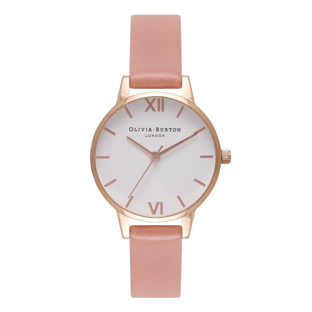 White Dial Midi Dial Rose & Rose Gold
