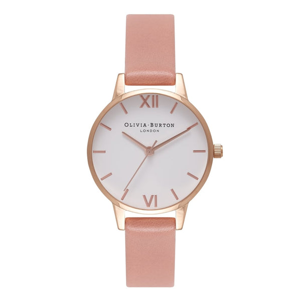 OLIVIA BURTON-White Dial Midi Dial Rose & Rose Gold-Watch-OB16MDW03-THE UNIT STORE
