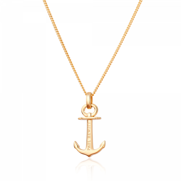 Paul Hewitt-Necklace Anchor Spirit 18K Plated Gold-Jewellery-PH-AN-G-THE UNIT STORE