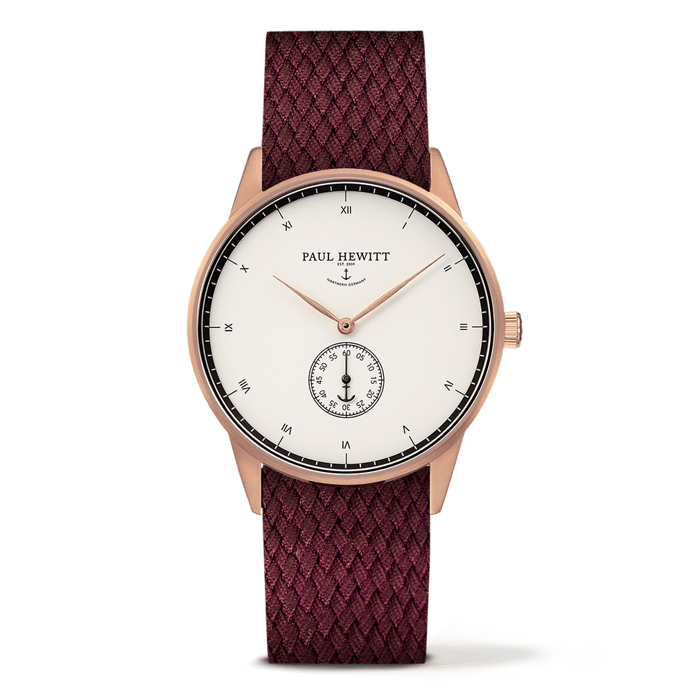 Paul Hewitt-Signature Line White Ocean Dark Berry 38mm-Watch-PH-M1-R-W-19S-THE UNIT STORE