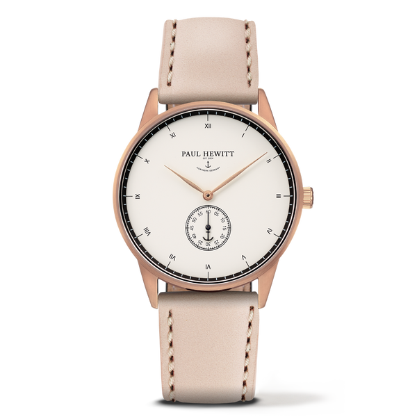 Watch Signature Line White Ocean IP Rose Gold Leather Hazelnut 38mm