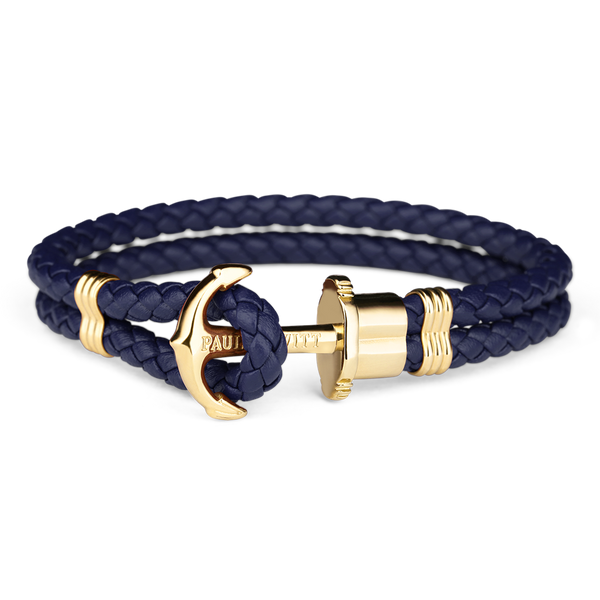 Paul Hewitt-Anchor PHREP IP Gold Navy Blue-Jewellery-THE UNIT STORE