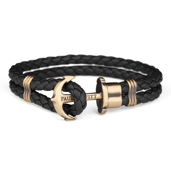 Paul Hewitt-Anchor PHREP Brass Black-Jewellery-THE UNIT STORE