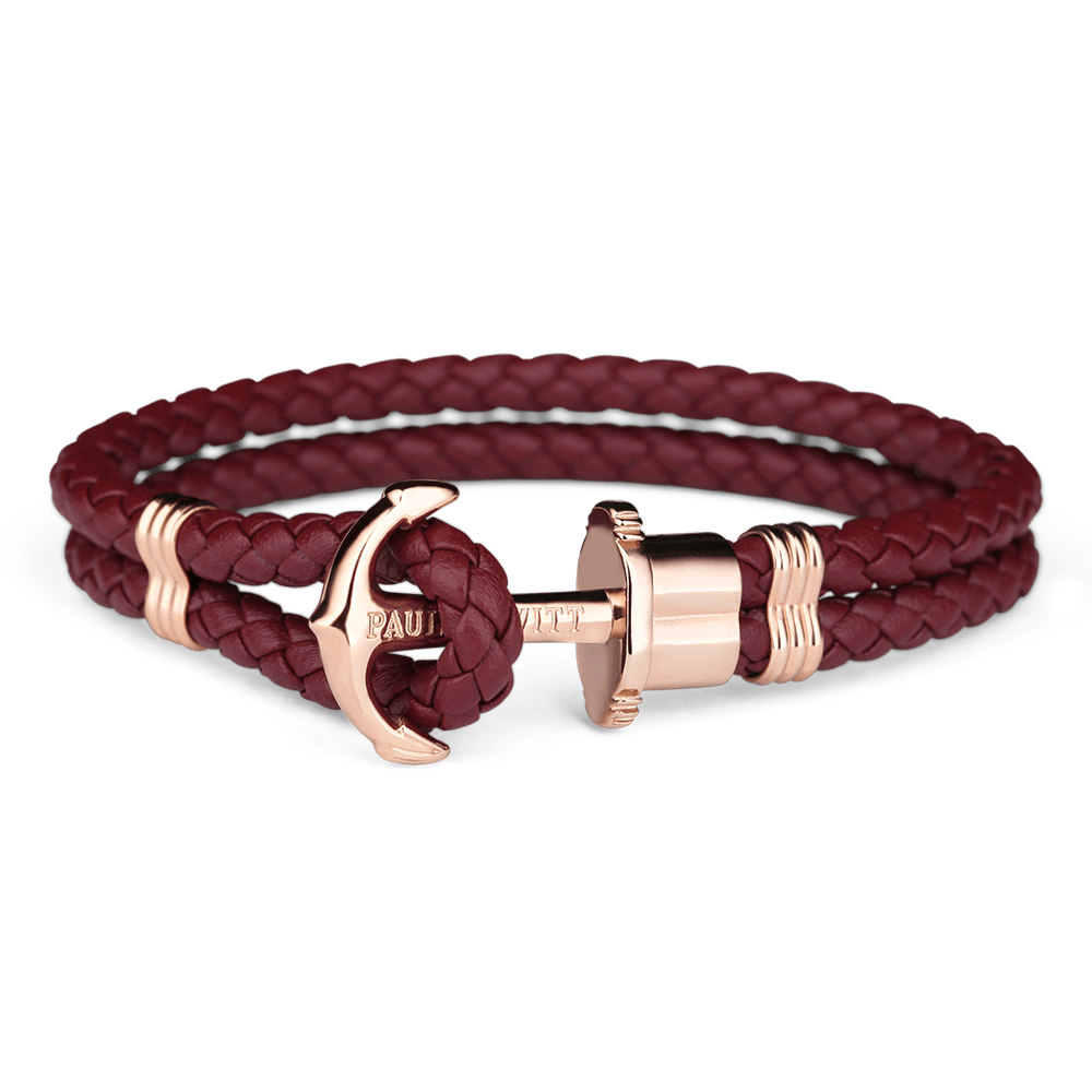 Paul Hewitt-Anchor PHREP IP Rose Gold Dark Berry-Jewellery-PH-PH-L-R-Db-XS-THE UNIT STORE