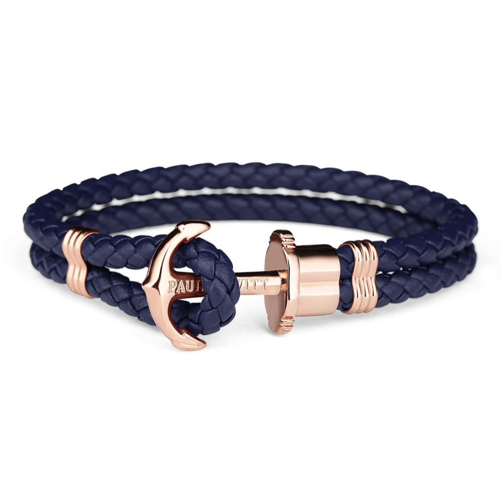Paul Hewitt-Anchor PHREP IP Rose Gold Navy Blue-Jewellery-THE UNIT STORE
